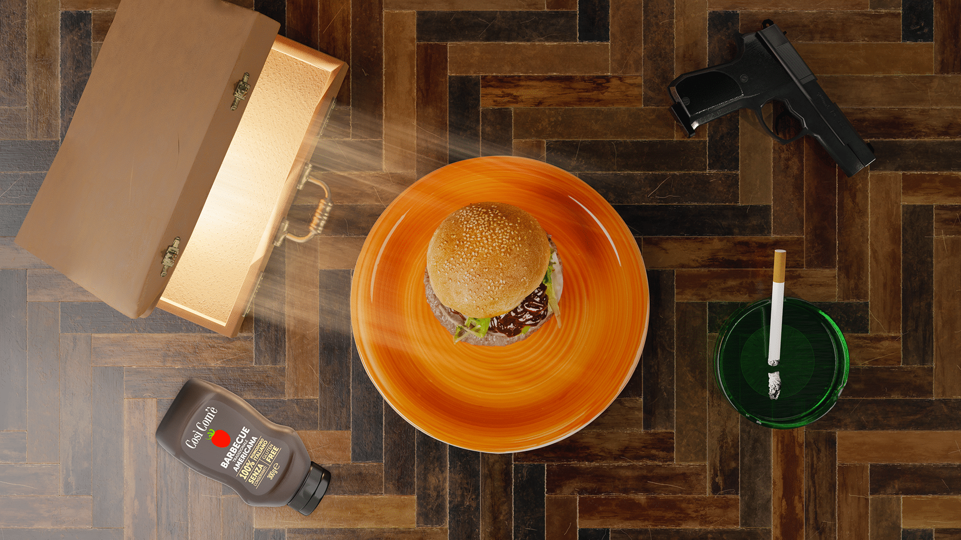 Pulp Fiction: Big Kahuna Burger con salsa barbecue